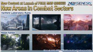 PSO2 : New Genesis secteur de combats