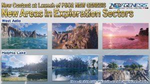 PSO2 : New Genesis zones